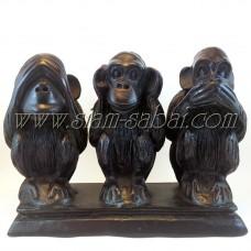 Статуэтка из Тайланда «Три обезьяны» из древесной смолы