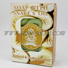 Мыло с маслом змеи и зеленым чаем